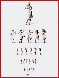 Imagem da notícia: 'Pornogirls' para medir acuidade visual