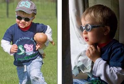 Imagem da notícia: Criança de três anos vê a preto e branco