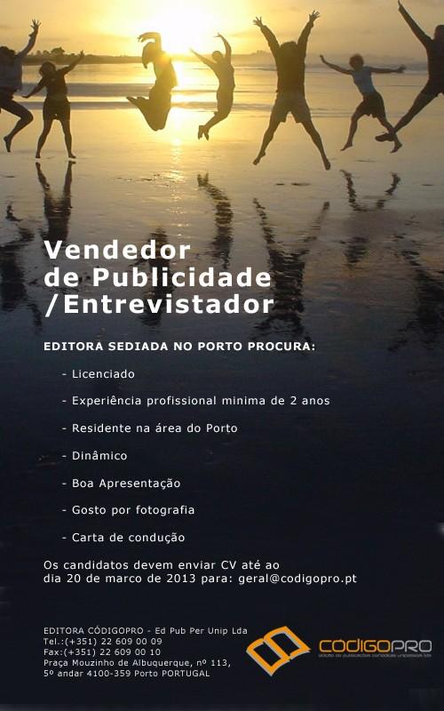 Imagem da notícia: Vendedor de Publicidade/Entrevistador