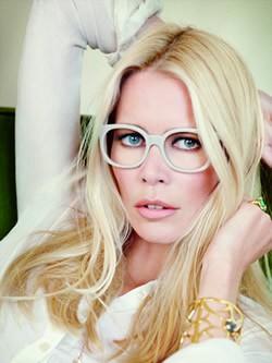 Imagem da notícia: Claudia Schiffer inspira coleção de óculos