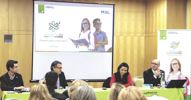 Imagem da notícia: LITERACIA 3Di: GCV e Porto Editora de mãos dadas