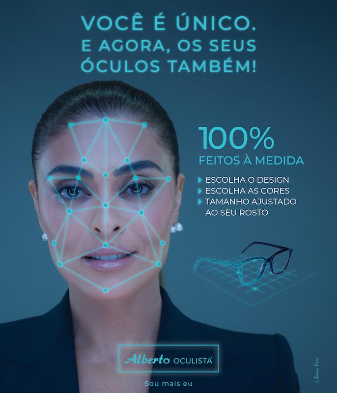 Imagem da notícia: Alberto Oculista lança serviço exclusivo de óculos criados 100% à medida