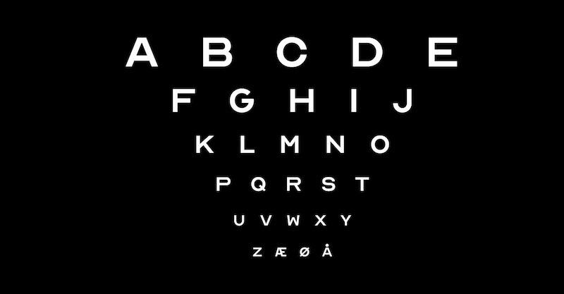 Imagem da notícia: Optician Sans, um tipo de letra baseado em optótipos