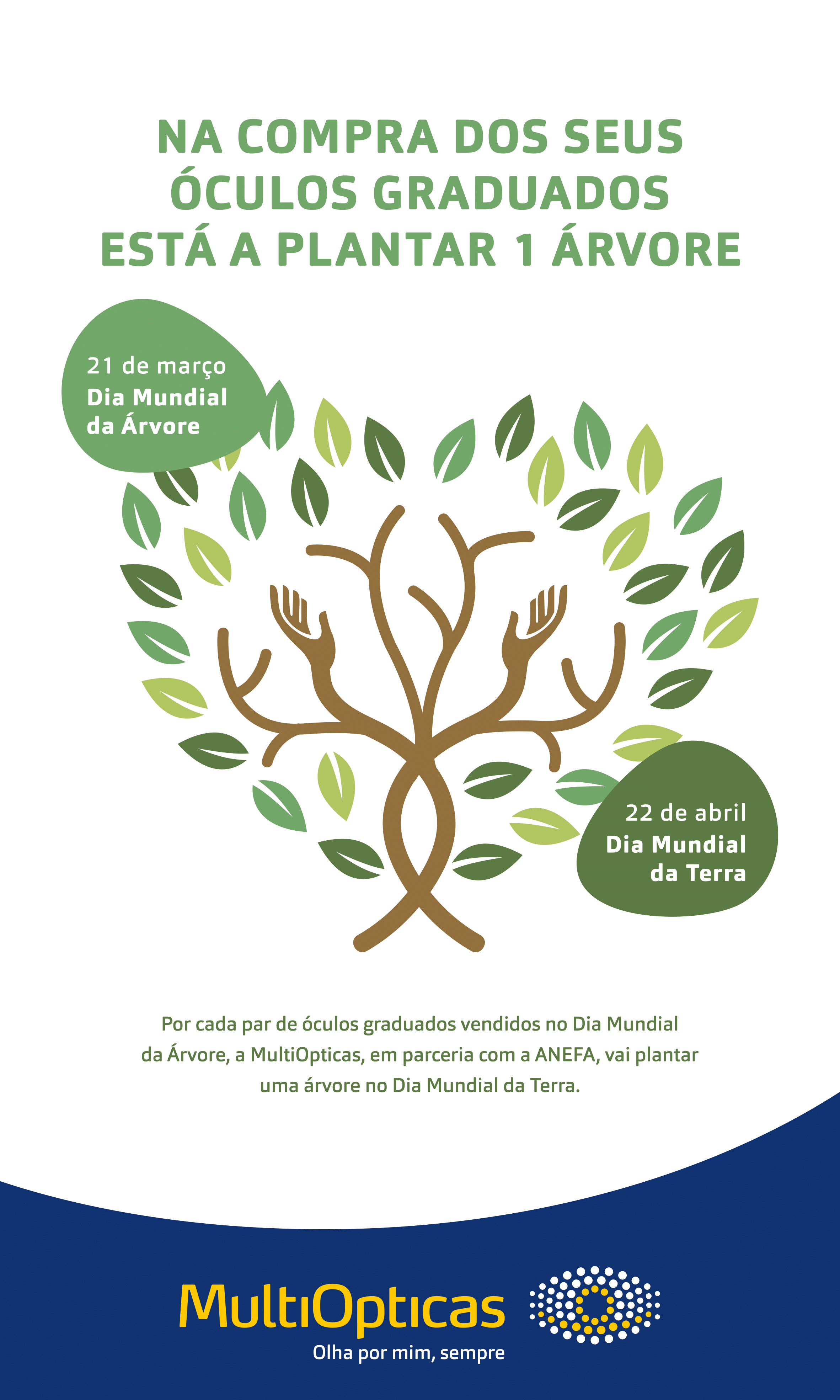 Imagem da notícia: MultiOpticas planta árvores por óculos graduados vendidos