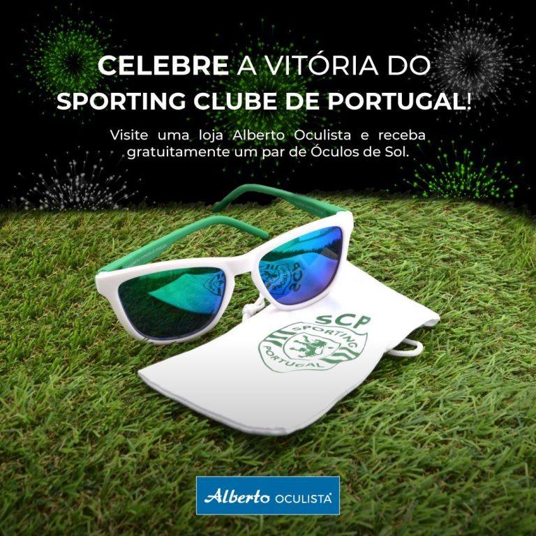 Imagem da notícia: Alberto Oculista festeja campeonato do Sporting com oferta de óculos de sol