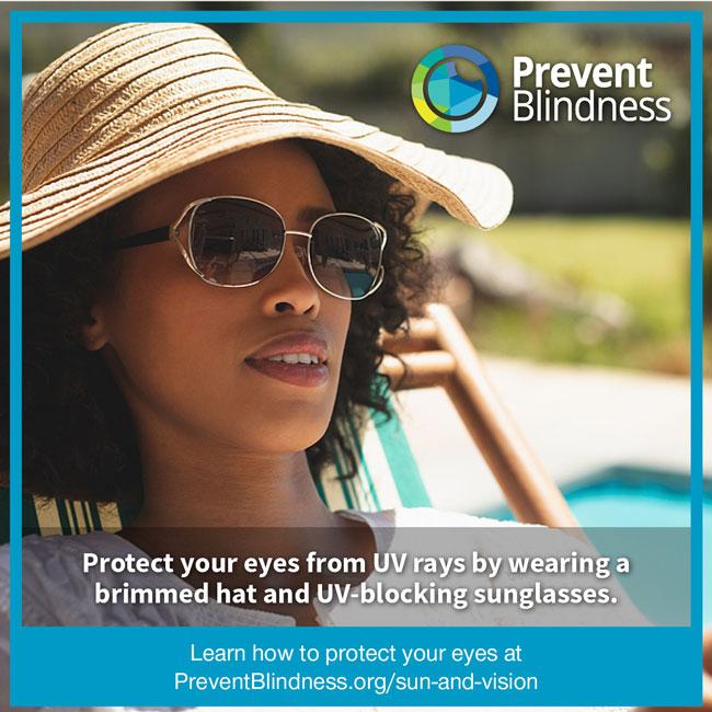 Imagem da notícia: Prevent Blindness declara maio como mês de sensibilização ultravioleta
