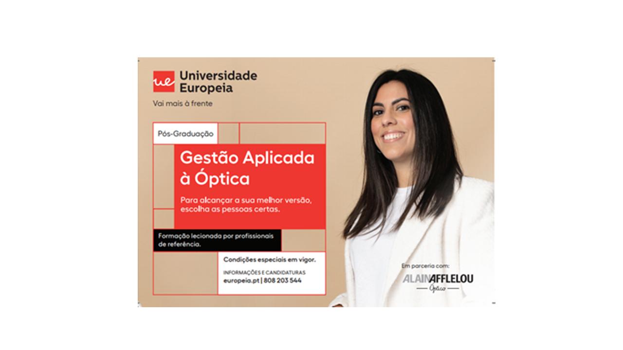 Imagem da notícia: Universidade Europeia lança pós-graduação em Gestão Aplicada à Ótica em parceria com a Alain Afflelou